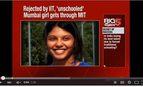 [新聞] 17歲印度少女沒高中畢業文憑 被MIT錄取